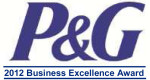 P&G 2012 Business Excellence Award Logo